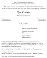 advertentie van Ype Kramer