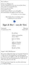 advertentie van Sippi de Boer - van der Veen