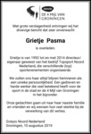 advertentie van Grietje Pasma