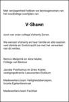 advertentie van V'Shawn Doran Pietersz