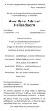 advertentie van Hans Bram Adriaan Hellendoorn