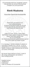 advertentie van Rienk  Waaksma