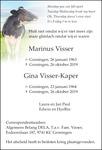 overlijdensbericht van Marinus en Gina Visser - Kaper