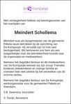 overlijdensbericht van Meindert Schollema