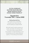 advertentie van Sjoerd de Vries