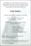 advertentie van Eelke Bakker