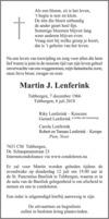 advertentie van Martin J. Lenferink