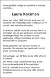 advertentie van Laura  Korsman