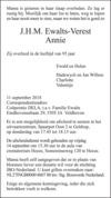 overlijdensbericht van J.H.M. (Annie) Ewalts - Verest