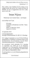 overlijdensbericht van Iman Nijsse