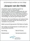 advertentie van Jacques van der Heide