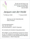 advertentie van Jacques van der Heide