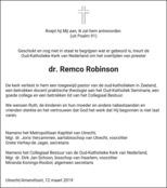 advertentie van Remco Robinson