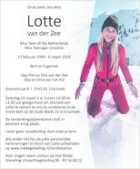 advertentie van Lotte  van der Zee