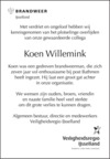advertentie van Koen Willemink