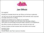advertentie van Jan  Olthuis