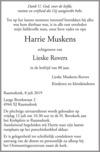 advertentie van Harrie Muskens
