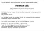 overlijdensbericht van Herman  Dijk