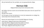 advertentie van Herman  Dijk
