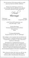 advertentie van Huub Wenneger