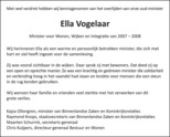 advertentie van Ella Vogelaar