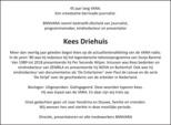 advertentie van Kees Driehuis