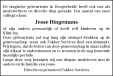 overlijdensbericht van Jesse Dingemans
