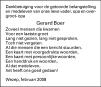 overlijdensbericht van Gerard Boer