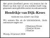 overlijdensbericht van Hendrikje van Dijk - Kroes