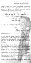 overlijdensbericht van Lucia Alida Gijsberdina Maria (Lucia) Vegelin - Beekwilder