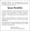 advertentie van Sjraar Hendriks