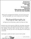 overlijdensbericht van Richard Kamphuis