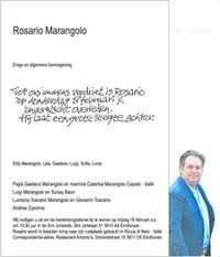 advertentie van Rosario Marangolo