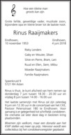 advertentie van Rinus Raaijmakers